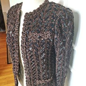 Vintage 70s Disco Sequin Cardigan Sweater